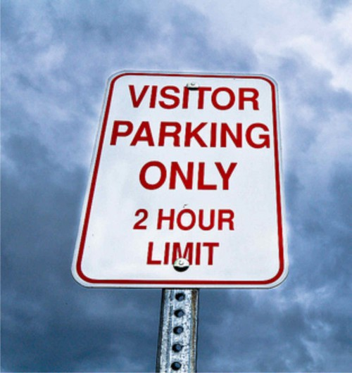 Aluminum Visitor Parking Signs