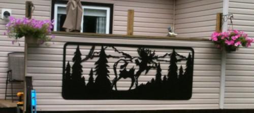 Decorative Moose Panel