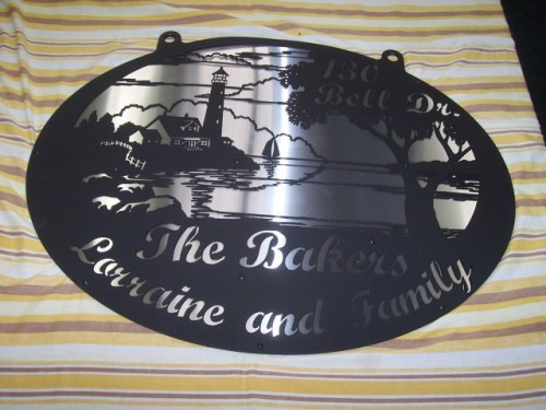 Lighthouse Chain Hanging Property Sign