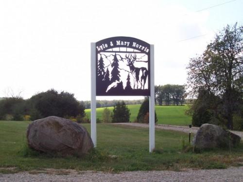 Single Sided Deer Property Sign