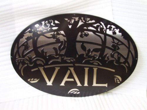 Single sided property sign with stainless steel backing