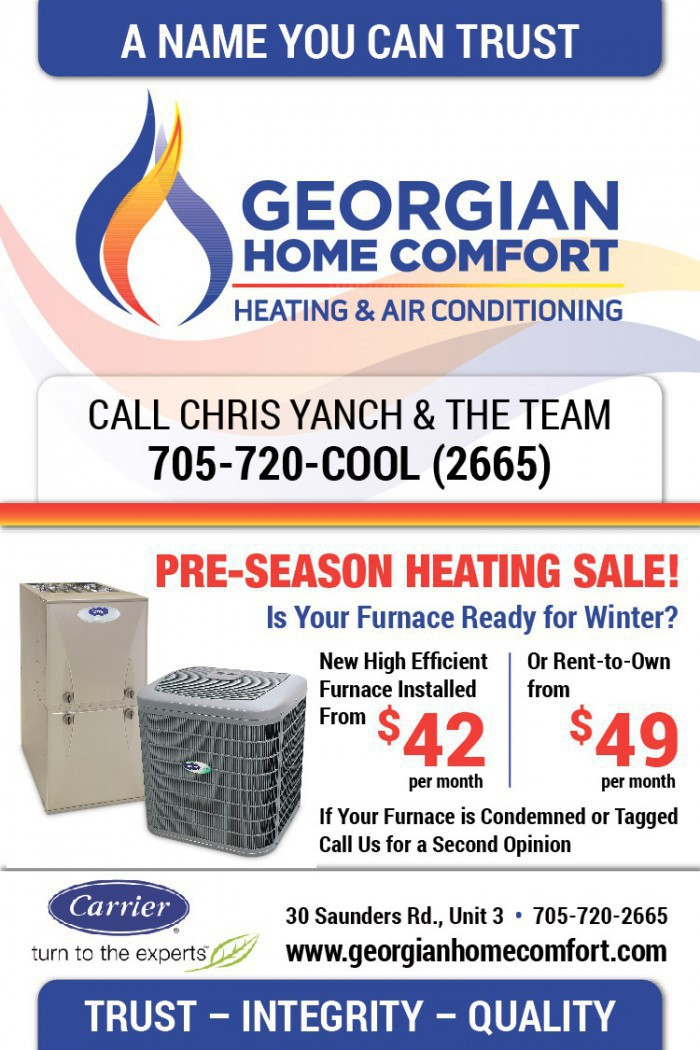 Keep warm this winter with a new home furnace. Purchase, finance or Rent-to-Own from as low as $42.00/mo